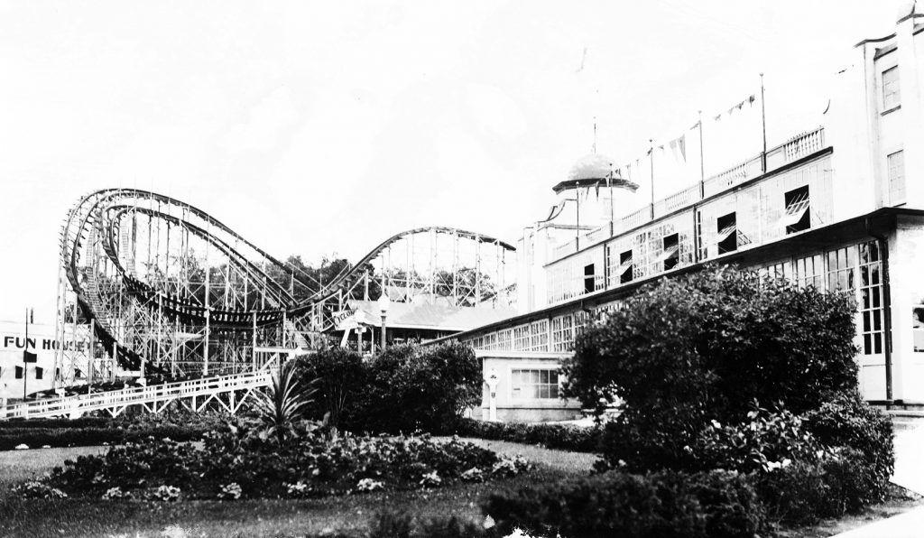 Rollercoaster at Crystal Beach, called The Cyclone